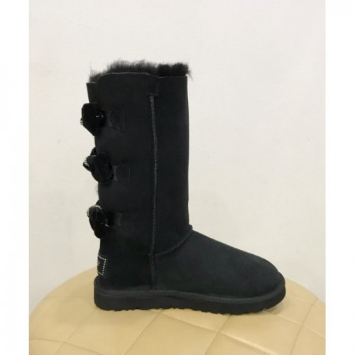 UGG Bailey Bow Tall Leather Black