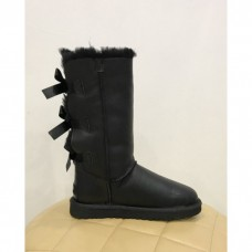 Купить UGG Bailey Bow Tall Leather Black в Украине