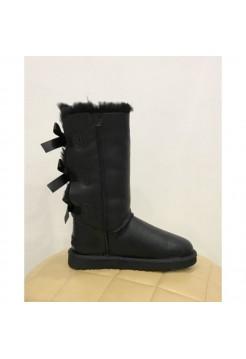 Купить UGG Bailey Bow Tall Leather Black В Украине