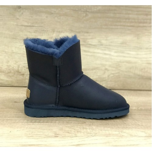 UGG Bailey Button Mini Turnlock Leather Blue