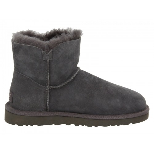 UGG Mini Bailey Button Dark Grey II