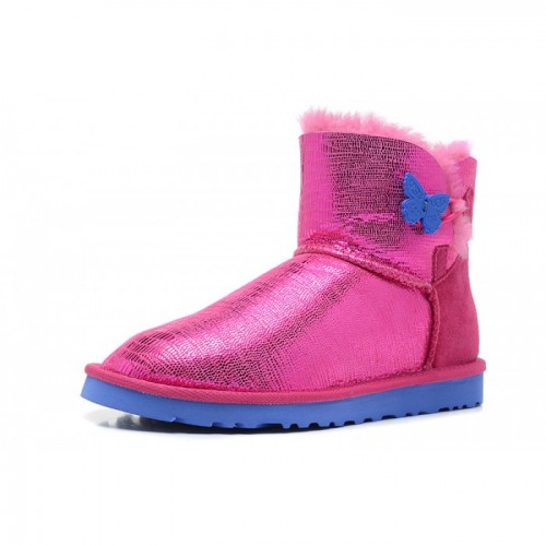 Купить UGG Mini Bailey Button Butterfly Pink в Украине