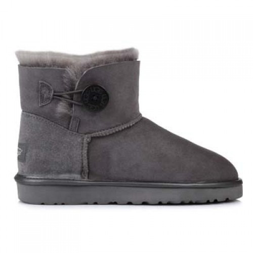 UGG Mini Bailey Button Grey Metallic