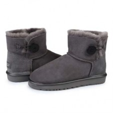 Купить UGG Mini Bailey Button Grey Metallic в Украине