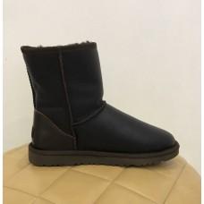 Купить UGG Classic Short Leather brown man в Украине