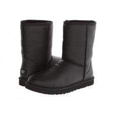 Купить UGG Classic Short Black Leather Men в Украине
