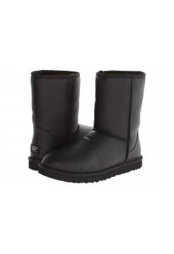 Купить UGG Classic Short Black Leather Men В Украине