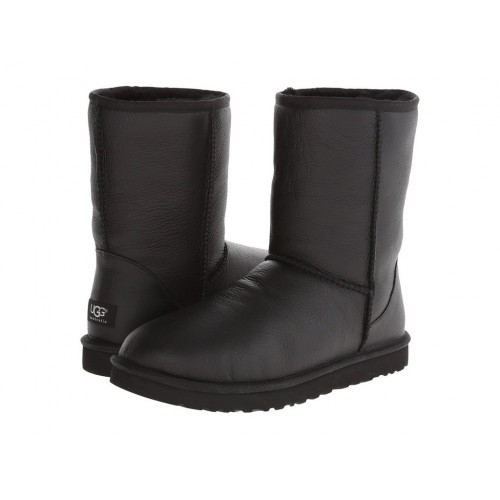UGG Classic Short Black Leather Men