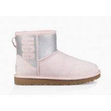 Купить UGG Classic Mini Sparkle Boot Seashell Pink в Украине