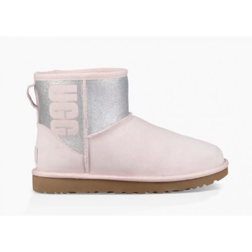 Купить UGG Classic Mini Sparkle Boot Seashell Pink в Украине