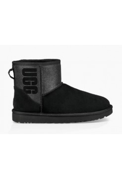 Купить UGG Classic Mini Sparkle Rubber Boot Black В Украине