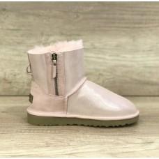 Купить UGG Classic Mini Double Zip Перломутровые бледно-розовые в Украине