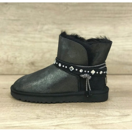 Купить UGG Classic Mini Braid Black в Украине