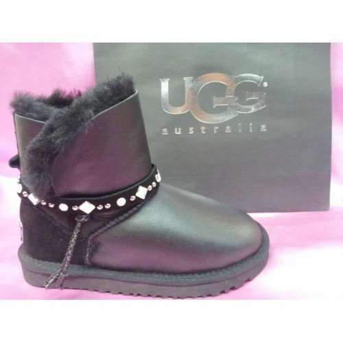 Купить UGG Classic Mini Renn Leather All Black в Украине