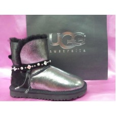 Купить UGG Classic Mini Renn Leather Glitter Black в Украине