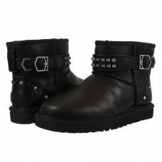 Купить UGG Classic Mini Neva Deco Studs Leather Black в Украине