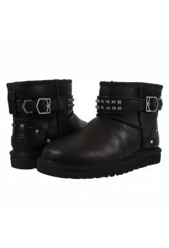 Купить UGG Classic Mini Neva Deco Studs Leather Black В Украине