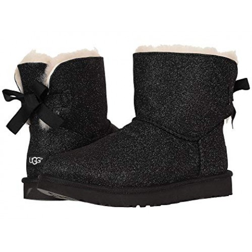 Купить UGG Mini Bailey Bow Sparkle Blaсk в Украине