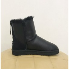 Купить UGG Classic Mini Zip Metallic Black в Украине