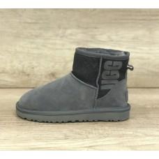 Купить UGG Classic Mini Sparkle Rubber Boot Gray в Украине