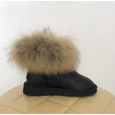Купить UGG Classic Mini Fur Fox Black в Украине