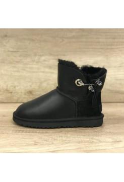 Купить UGG Josey Leather Black В Украине