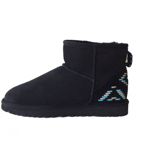 Купить UGG Classic Mini Ornament Black-Blue в Украине
