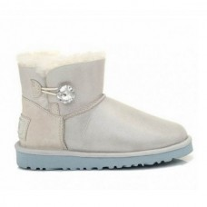 Купить UGG Bailey Button Mini Bling White в Украине