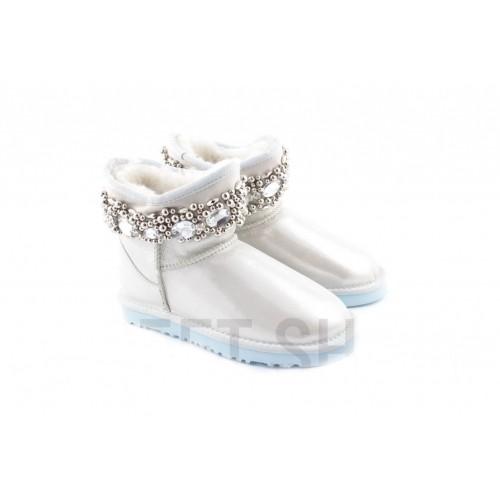 Купить UGG Classic Mini Queen White/Silver в Украине