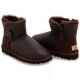 Купить UGG Bailey Button Mini Leather Chocolate в Украине