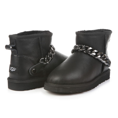 UGG Classic Mini Chain Metallic Leather Black