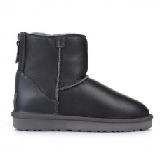 Купить UGG Australia Classic Mini Zip Leather Grey в Украине