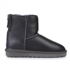 Купить UGG Australia Classic Mini Zip Leather Grey в Украине