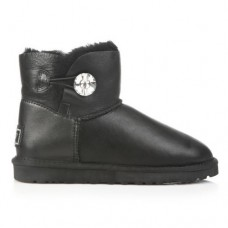 UGG Bailey Button Mini Bling Leather Black