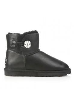 Купить UGG Bailey Button Mini Bling Leather Black В Украине