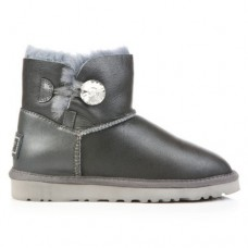 Купить UGG Bailey Button Mini Bling Leather Gray в Украине