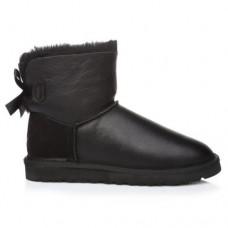 Купить UGG Mini Bailey Bow Leather Black в Украине