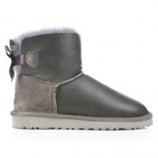 Купить UGG Mini Bailey Bow Leather Grey в Украине
