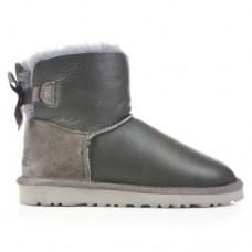 Купить UGG Mini Bailey Bow Leather Grey в Украине