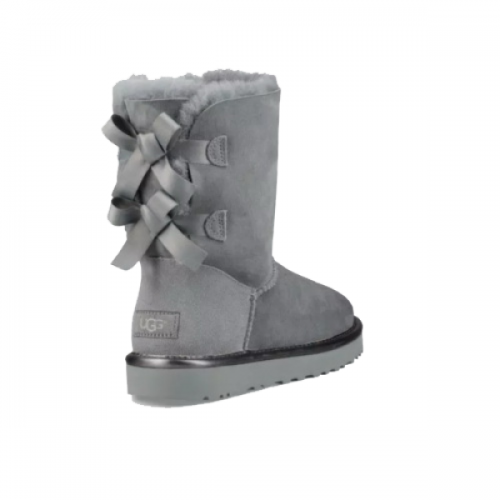 UGG Bailey Bow II Metallic Geyser Grey