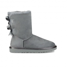Купить UGG Bailey Bow II Metallic Geyser Grey в Украине