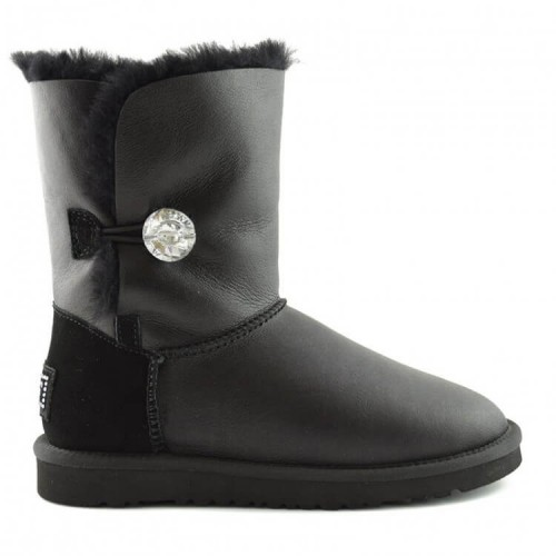 Купить UGG Bailey Button Bling Leather Black II в Украине