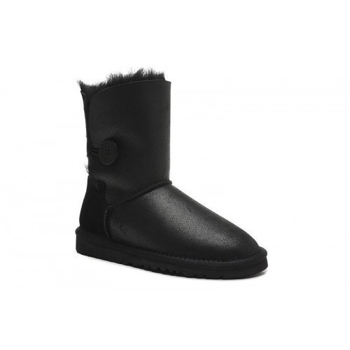 UGG Bailey Button Leather Black II
