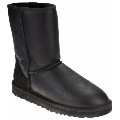 Купить UGG Classic Short Leather Black II в Украине