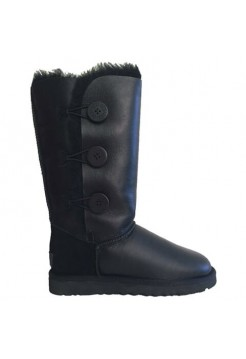 UGG Bailey Button Triplet Leather Black II