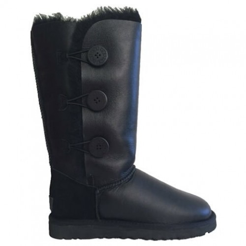 Купить UGG Bailey Button Triplet Leather Black II в Украине