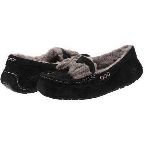Купить UGG Ansley Knit Bow Black в Украине