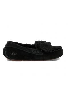 UGG Ansley Fur Bow Black