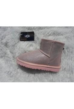 Купить Угги из шерсти Classic Mini розовый лазер В Украине